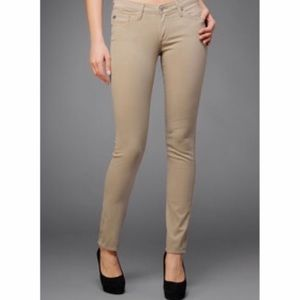 Ag Adriano Goldschmied Jeans - AG The Stilt Jeans in Camel Sateen